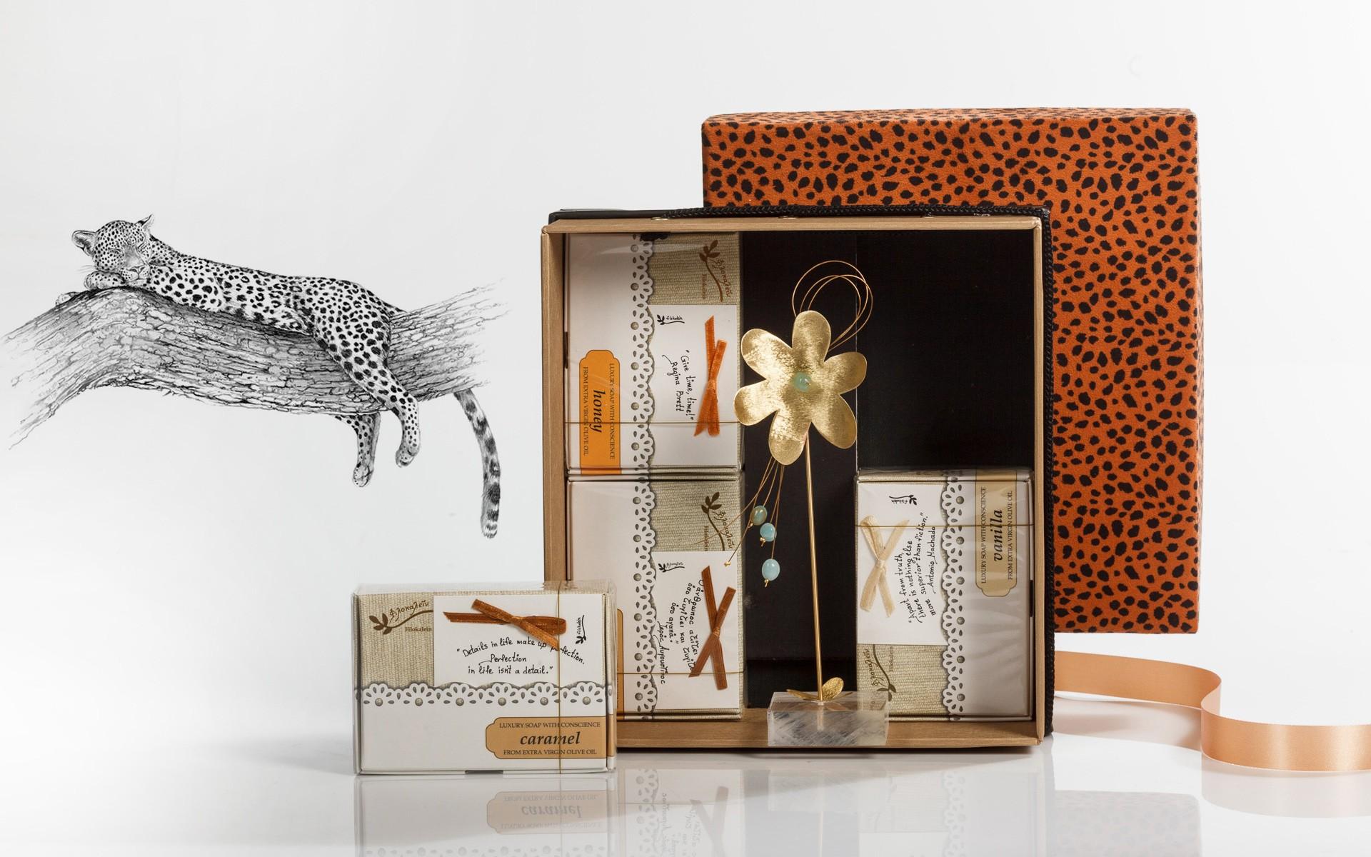 orange leopard - touching nature